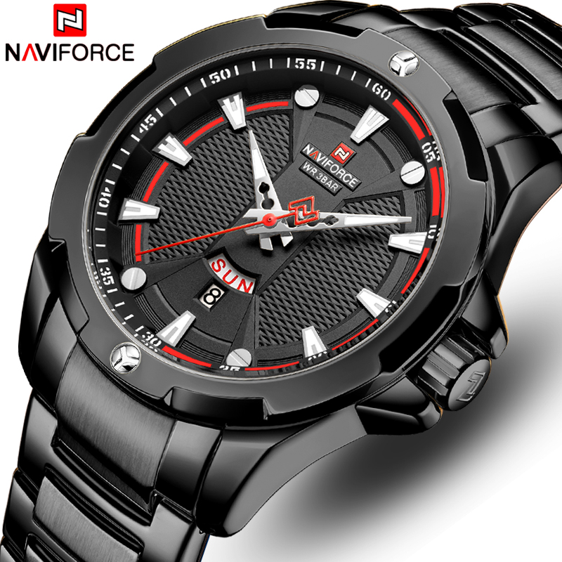 NAVIFORCE Mens Watch Top Brand Luxury Fashion Quartz Men Watches Waterproof Sports Male Military Wrist Watch Relogio Masculino