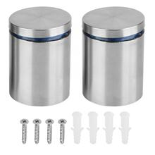2Pcs/set 40*50mm Hollow Stainless Steel Advertise Fixing Pins Glass Standoff Mounting Bolts