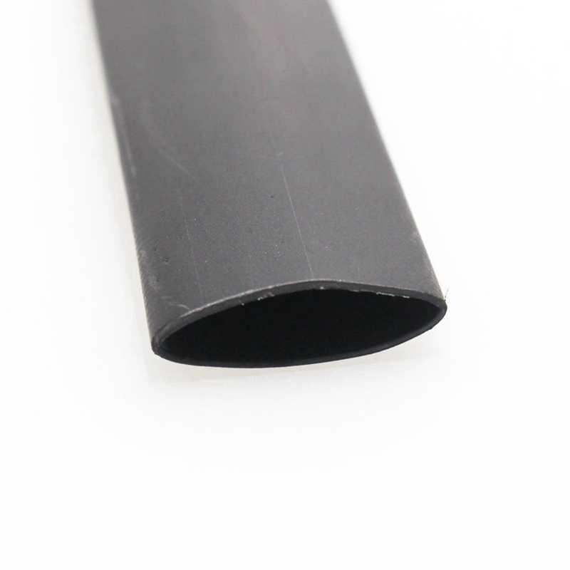 2 個黒熱収縮チューブ電気スリーブ車ケーブル/ワイヤー熱収縮チューブラップ、 3 ミリメートル、 1 メートル & 6 ミリメートル、 1 メートル