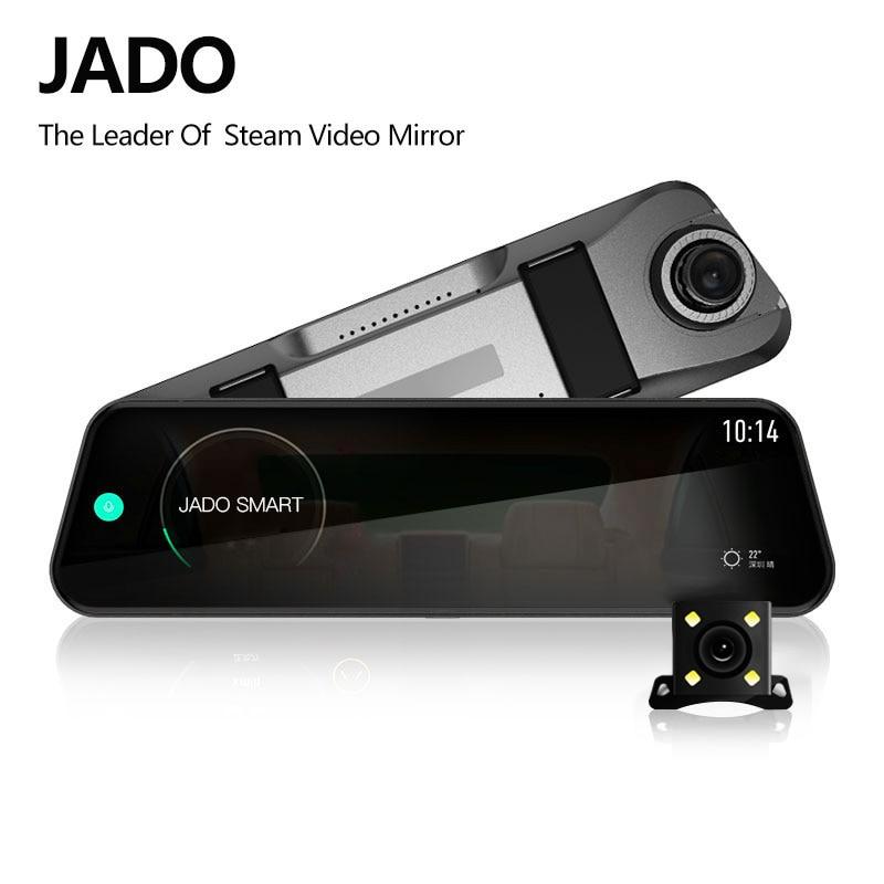 JADO D820s Car Dvr Stream RearView Mirror dash Camera avtoregistrator 10 IPS Touch Screen Full HD 1080P Car Recorder dash cam-in DVR/Dash Camera from Automobiles & Motorcycles
