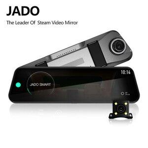 Image 1 - JADO D820s wideorejestrator samochodowy strumień lusterko wsteczne kamera samochodowa avtoregistrator 10 ekran dotykowy ips Full HD 1080P kamera samochodowa kamera na deskę rozdzielczą
