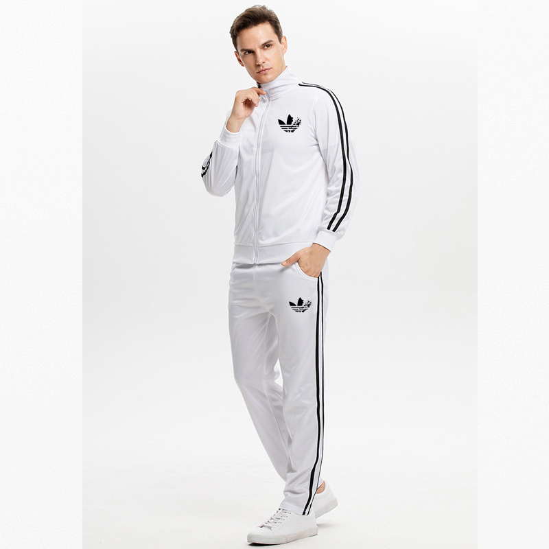 2020 Spring Sports Jacket + Pants Casual Men's Sports Suit Men's Sportswear Men's Sportswear Suit Polyester Sweatshirt