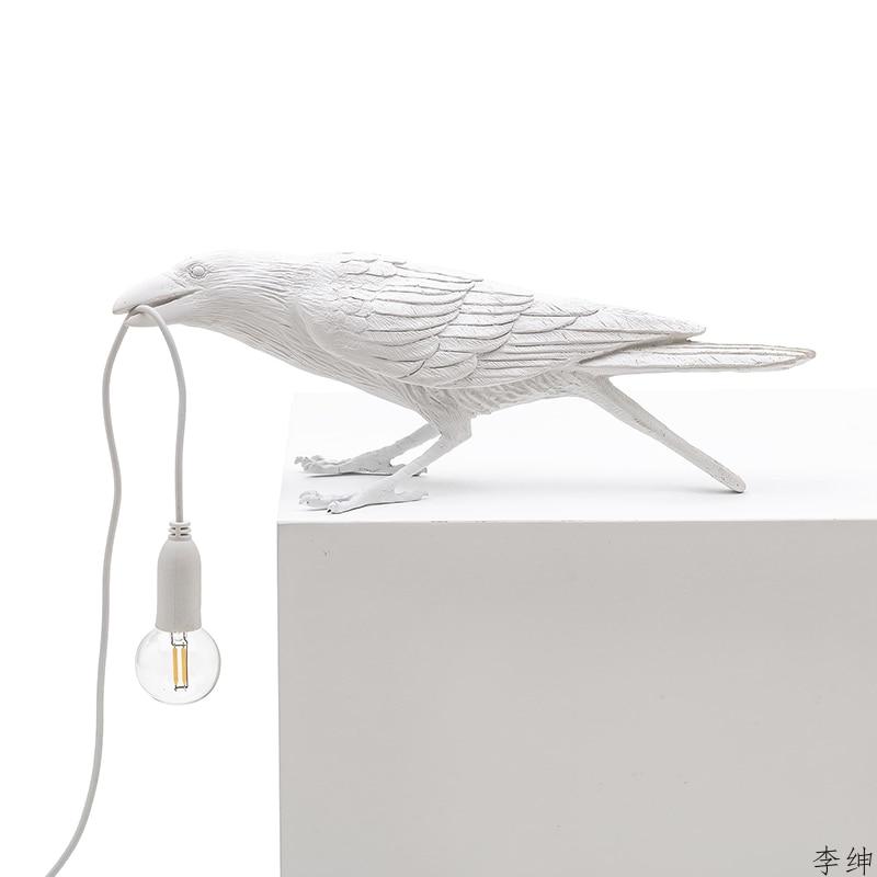 nordic passaro resina lampada de parede sala 02