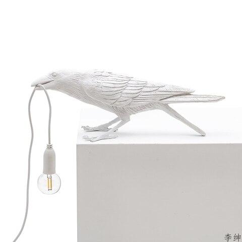 nordic passaro resina lampada de parede sala
