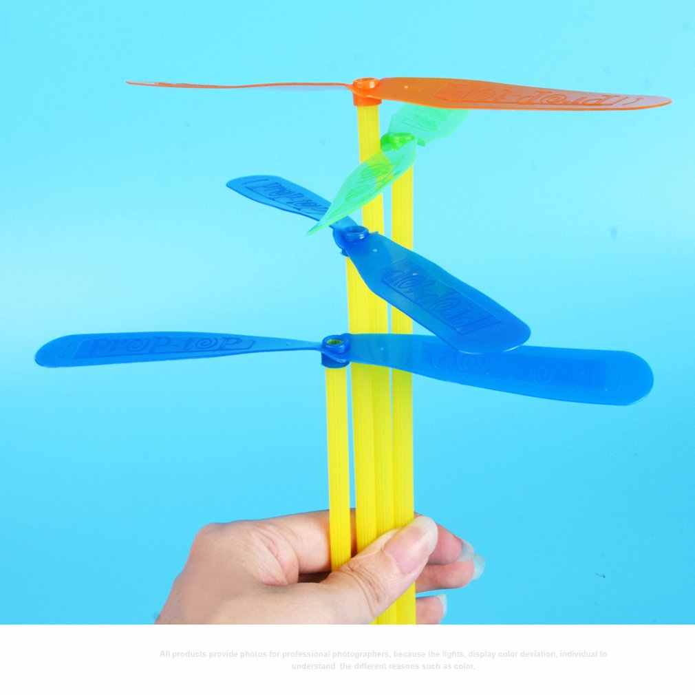 Children'S Toys Nostalgic Classic Bamboo Rafts Handcuffs Plastic Double Flying Leaves Flying Fairy