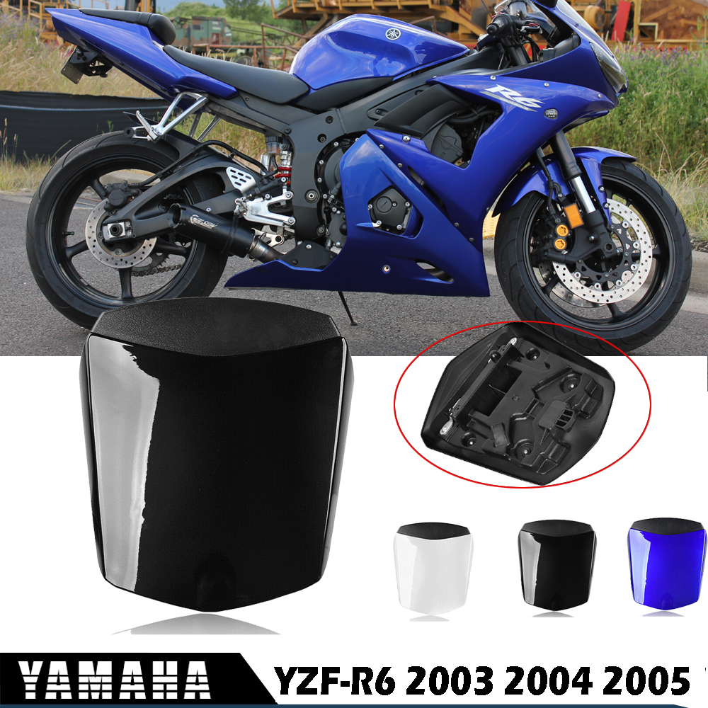YZFR6 Accessories Rear Seat Cowl Fairing Hard Seat Cover ABS Plastic Blue Black White For Yamaha YZF R6 YZF-R6  2003 2004 2005