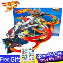 2017 Hot Wheels Roundabout Electric Carros Track Model Cars Train Kids Plastic Metal Toy-cars- Hot Toys For Children Juguetes(China)
