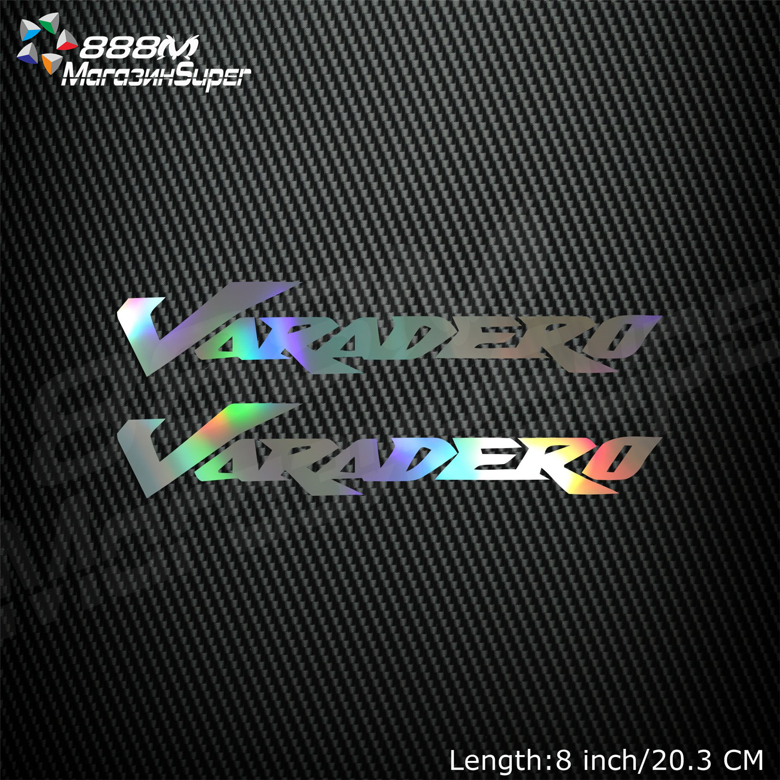 1Pair Motorcycle Reflective Laser Helmet Tank Pad Decoration Sticker Motorbike Decals For Honda Varadero 125 1000 image