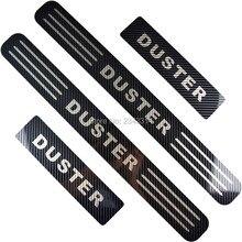 Для Dacia Renault Duster 2010- карбоновое волокно, автомобильный порог, защита от царапин, накладка, защитная крышка, аксессуары для стайлинга автомобилей