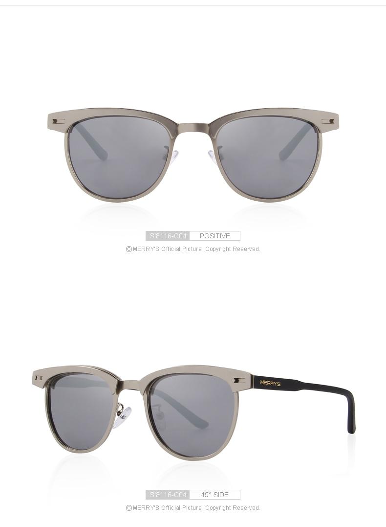 Merrys design óculos de sol polarizados masculinos