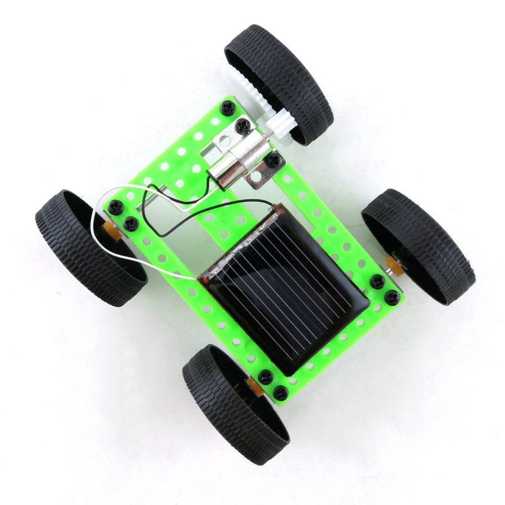 Cute Infant Baby 1 Set Mini Solar Powered Toy DIY Car Kit Children Educational Gadget Hobby Funny  Toys For Children Diecasts
