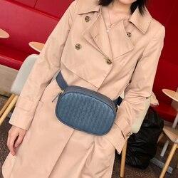 Luxus Marke Frauen Taille Tasche Schulter Tasche 100% Schaffell Leder Hand-Woven Mode Exquisite Tasche Lagerung Casual-Stil 2020 neue