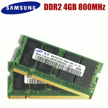 Samsung memoria para ordenador portátil, 4GB de PC2 6400, DDR2, 800MHz, 4G, 800, 6400S, 4G, SO DIMM de 200 pines4gb 2rx8 pc2-6400sddr2 4gbpc2 6400