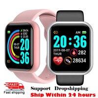 2021 Topsell Y68 Smart Watch uomo donna cardiofrequenzimetro Monitor sportivo impermeabile Smartwatch per Andriod IOS Smart Clock
