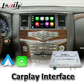 Lsailt Wireless Carplay Interface for Nissan Patrol Y62 2012-2017 Year Wired Android Auto Youtube Video Music Play