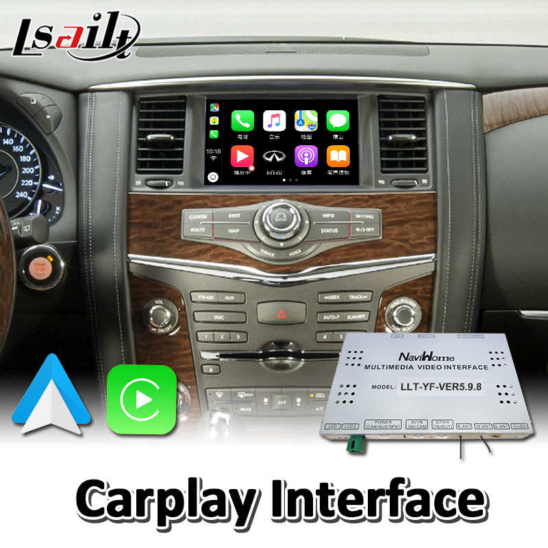 Lsailt Wireless Carplay Interface For Nissan Patrol Y62 2012 2017 Year Wired Android Auto Youtube Video Music Play Aliexpress