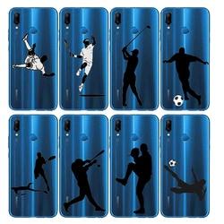 На Алиэкспресс купить чехол для смартфона sports soccer football baseball golf tennis phone case soft silicone cover case for mate 10 20 p30 p20pro lite p smart