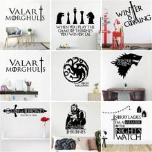 Classical Game Of Throne Wall Sticker Art Decor Living Room Wallpaper Children Stickers Murals