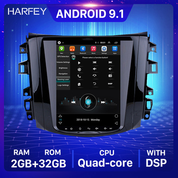 Harfey Multimedia Player with Rear camera Mirror WIFI for 2018 Nissan NAVARA Terra 9.7 Car GPS Navi Android 9.1 Radio 4G LTE image