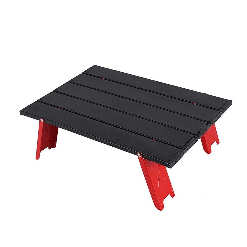 Новый мини черный Открытый алюминиевый сплав складной стол мебель барбекю кемпинг палатка Бытовая кровать складной компьютерный стол