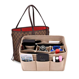 Make up Organizer Insert Bag For Handbag, Travel Inner Purse Portable Cosmetic Bag, Fit Cosmetic Bags Fit Speedy Neverfull(China)