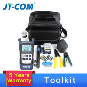 12pcs Fiber Optic FTTH Tool Kit with FC-6S Fiber Cleaver and Optical Power Meter Visual Fault Locator 5-30km Cable Wire Stripper