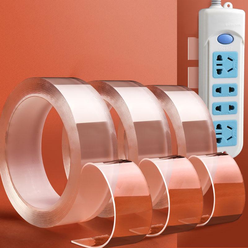Ruban adhésif double face lavable pour la maison, réutilisable, sans trace, Gadget de colle Nano nettoyable, ruban adhésif magique double face transparent
