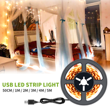 Led Strip Light 5V Luces Closet Lamp USB Flexible Bedroom Decor Strips 0.5~5M Stair Indoor Lighting Wall Tape