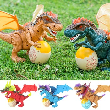 Electric Realistic Dinosaur Toys With LED Light Sound Model Action Figures Walk Around Kids Children Toys Animal Model DH mighty electric walking with sound dinosaur toys animals model toys for kids