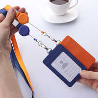 New Card Holder Employee ID Card Cover Work Certificate Identity Badge ID Business Case With Neck Lanyard