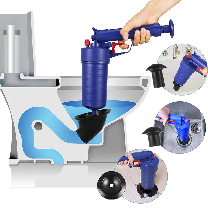 Nuevo desatascador de aire Manual de alta presión, desatascador de desagüe, bomba de pistola, limpiador, abridor destapador de inodoro