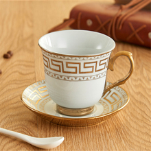 Europe Porcelain Coffee Cup And Saucer sets Classic Ceramic Tea cup Espresso Cup Milk cup Fashion home Decoration accessories klimt classic kiss design coffee cup and tea saucer ceramic