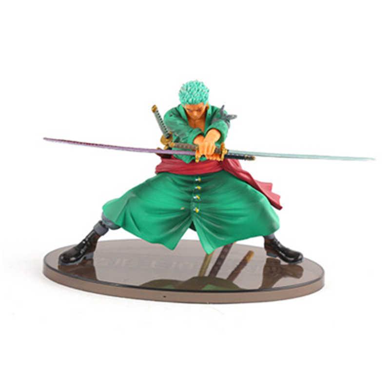 4 estilos anime uma peça fugure modelo novo mundo roronoa zoro chapéu de palha clássico batalha pvc figura ação collectible presente brinquedo