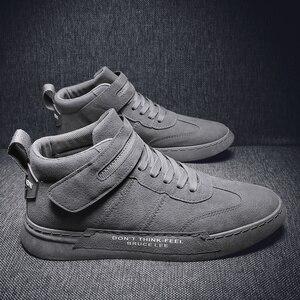 Image 2 - QZHSMY גברים נעליים יומיומיות מגפי סתיו נעל אוורור תלמיד סניקרס Zapatos Hombre רך אור נוח לנשימה 39 44