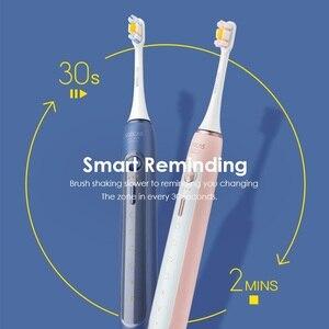 Image 3 - Soocas X5 spazzolino elettrico sonico USB ricaricabile aggiornato adulto IPX7 spazzolino da denti Ultra sonico 12 modalità pulite con testine