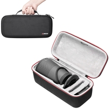 лучшая цена Newest EVA Outdoor Protective Case For Bose Soundlink Revolve + Plus Bluetooth Speaker Bag Cover Case Extra Space For Plug&Cable