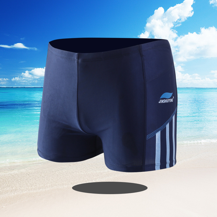 Men Swimwear Swimming Trunks Plus-sized Boxer Fashion Dyed Swimming Suit Adult Quick-Dry Industry Large Size Swimming Trunks 811