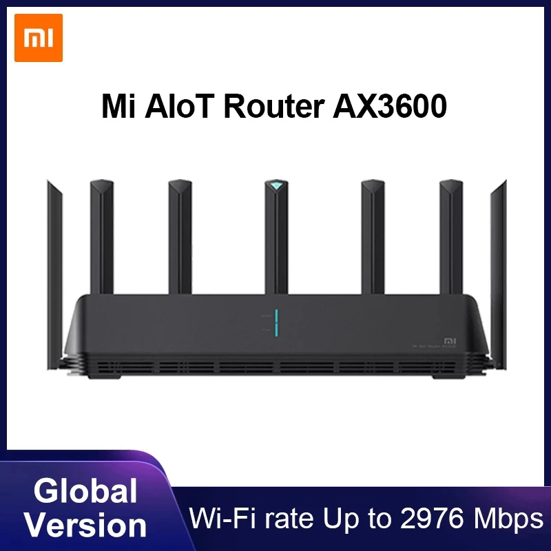 Global Version Xiaomi Mi AIoT Router AX3600 Six-Core Chip Dual-Frequency WiFi 3-Gigabit Wireless Rate WPA3 Network Encryption 1