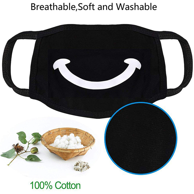 Cotton Pm2.5 Black Mouth Mask Anti Dust Mask Activated Carbon Filter Windproof Mouth Muffle Bacteria Proof Flu Masks 4