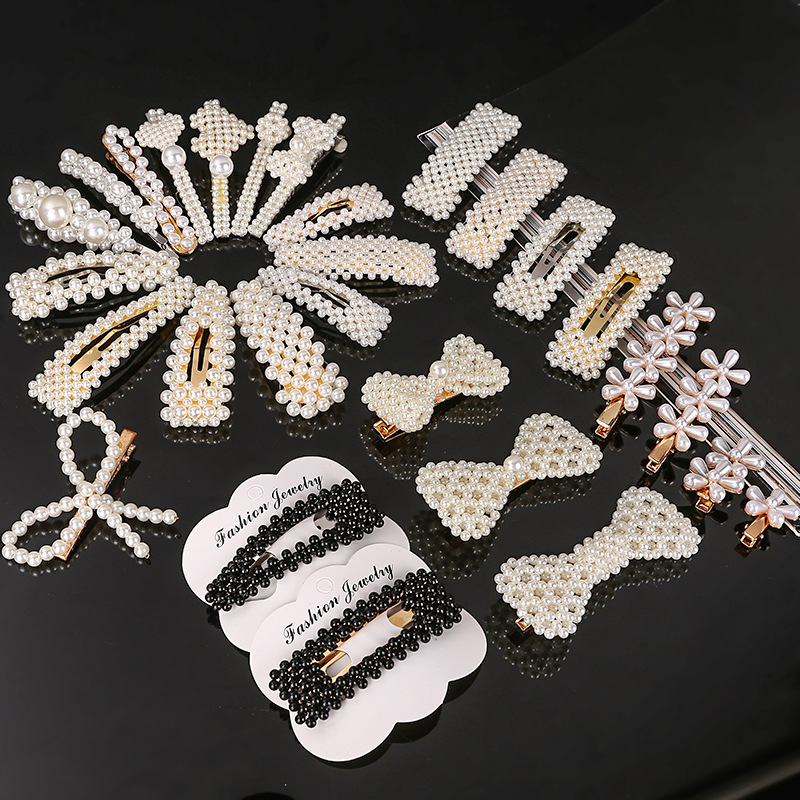 Korea Trendy Pearl Hairpins Women Hair Clips Pin Barrettes Accessories For Women Girls Hair Hairclip Hairgrip Headdress Headwear