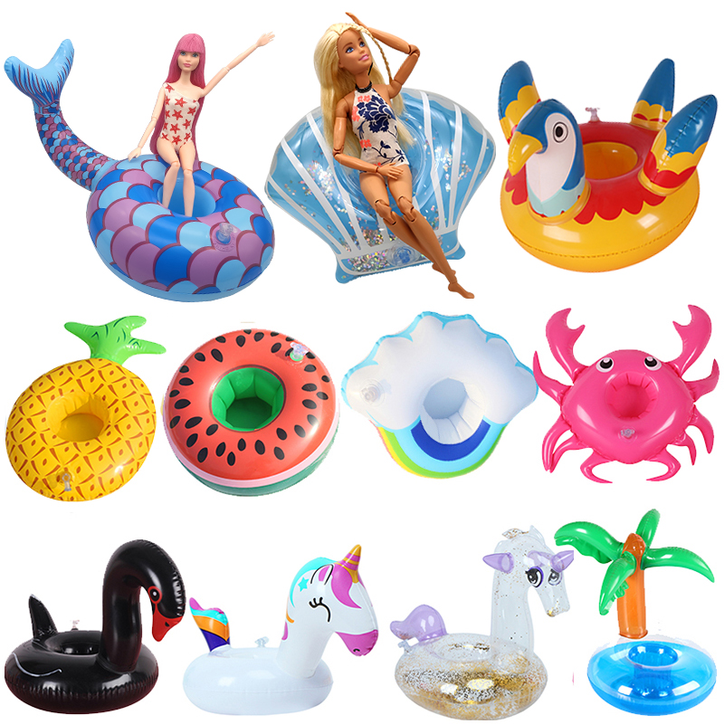 Swimming Ring Lifebuoy For Barbie Dolls Beach Accessories Fashion Baby Toys For Children Cute Pool Girls Swimwear Doll Party Set