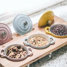 Железная студия чугунная эмаль мультяшная чашка Бытовая детская пищевая добавка горшок приправа набор для хранения солонка приправа коробка Com
