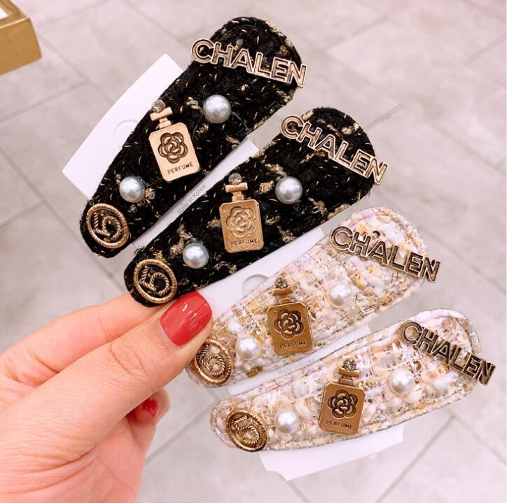 Retro Style Women Simple Fashion INS  Models BB Clip Bangs Clip Chic Letter Hair Accessories