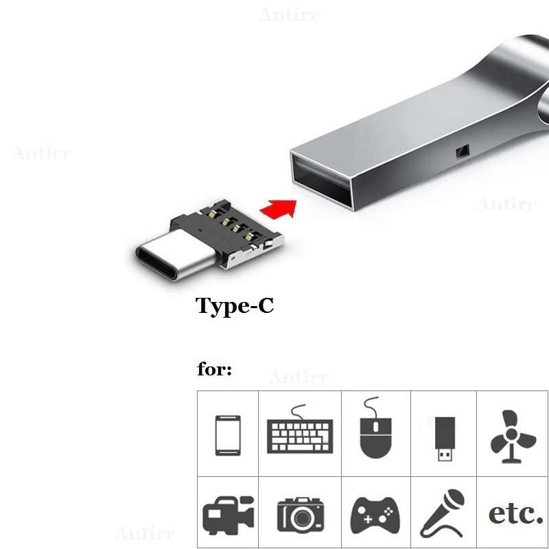 1pc tipo-c USB-C conector tipo c usb 3.1 macho para usb fêmea otg adaptador conversor para android tablet telefone flash unidade u disco