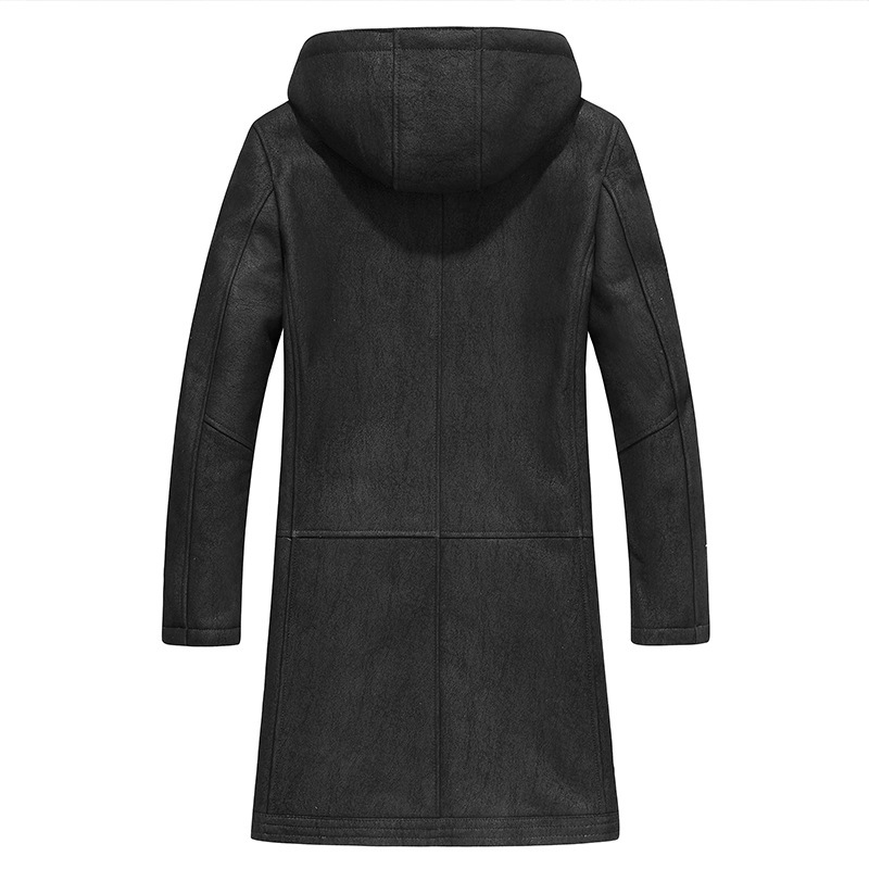 Leather Real Wool Coat Sheep Shearling Fur Coats Winter Jacket Men Windbreaker Jaqueta De Couro 38-1292 YY506