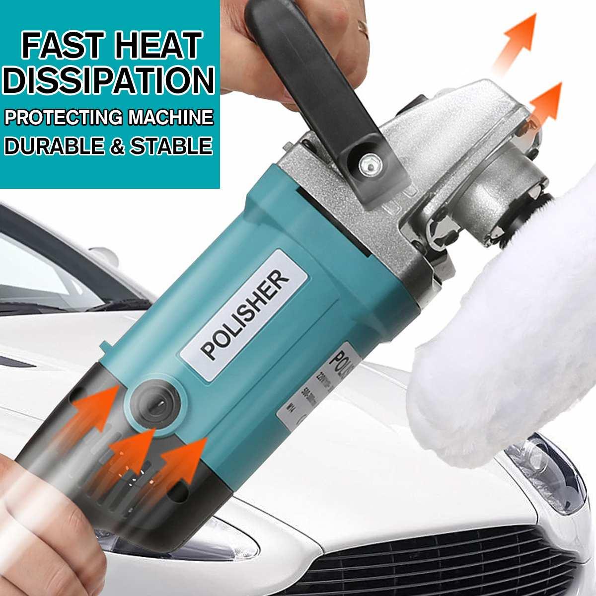 Auto Wachs Polierer 1600W Variable Geschwindigkeit 3000rpm Autolack Pflege Werkzeug Elektrische Polieren Maschine Sander 220-240V