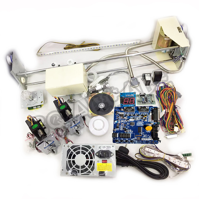 Crane Machine kit,DIY Toy Crane machine kit with crane game PCB, coin acceptor, buttons, harness. etc for crane machine