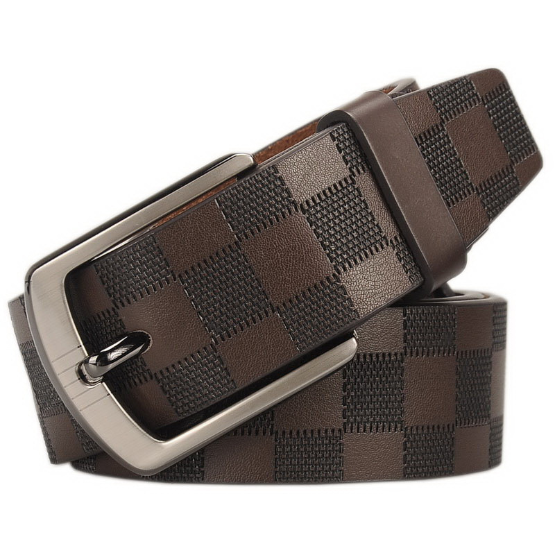 New Mens Fashion Belts Leisure Business Casual Wild High Grade Luxury Pure Leather Antique Buckle Belts