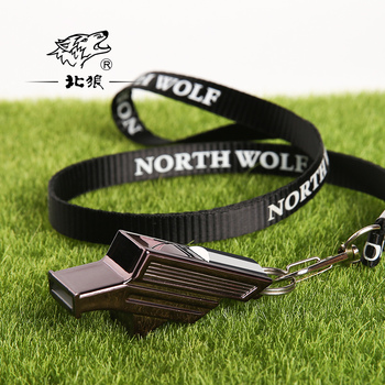 10 pcs North Wolf Football Match Whistle Referee Coach Training seedless High Frequency Whistle
