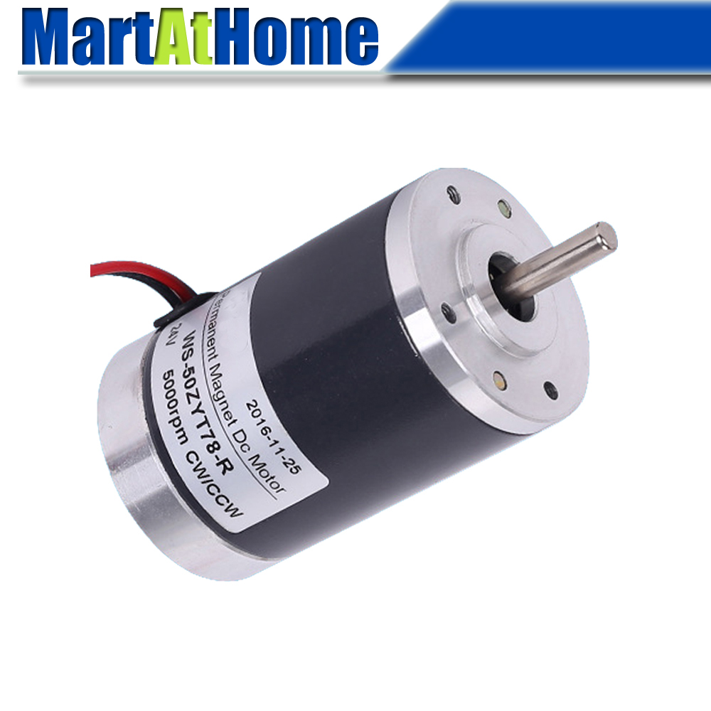 <font><b>12V</b></font> 24V Mini Permanent Magnet <font><b>DC</b></font> <font><b>Motor</b></font> PMDC Support Positive & Negative, Speed Regulation 2000~<font><b>6000RPM</b></font> with Bracket image